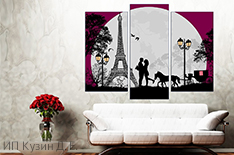 Романтические валентинки и картины на холсте от студии печати «Parallax» со скидкой до 55%!