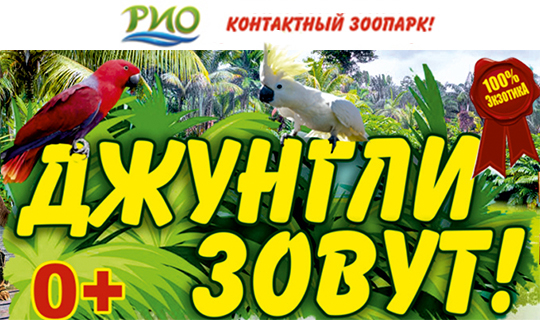 Контактный зоопарк «Джунгли зовут» со скидкой 50%!